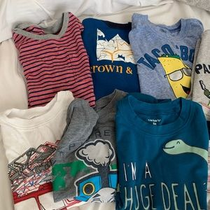 10 SS shirts, gap, old navy, Carter's, crown & Ivy